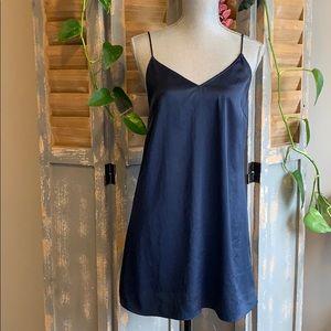 Wilfred Free Navy Blue adjustable slip mini dress